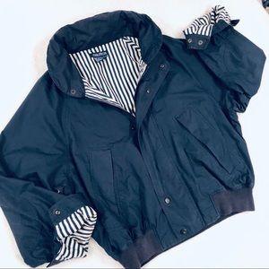 NAUTICA Vintage Blue Cotton Bomber Sailing Jacket